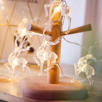 Outdoor Christmas Light LED Reindeer String Lights