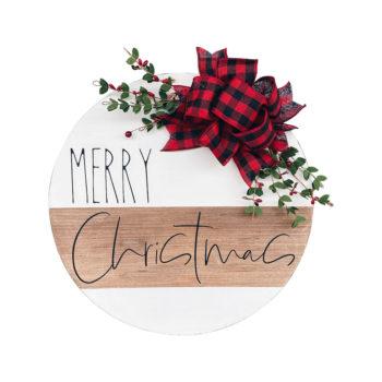 Christmas Door Hanger Merry Christmas Front Porch Sign