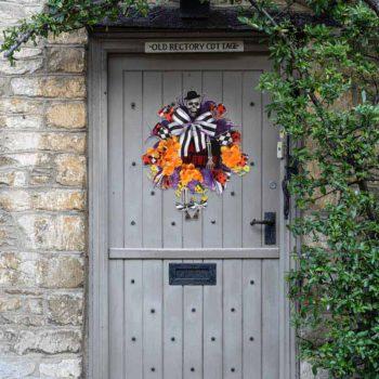 Halloween Wreath Front Door Swag Halloween Skull Wreath
