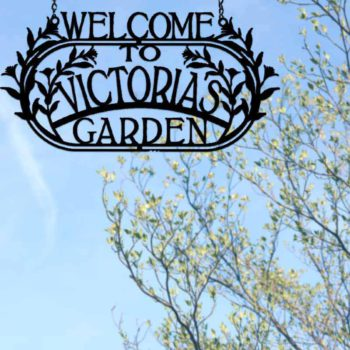 Garden Welcome Sign Customizable Yard Name Signs