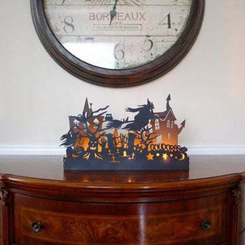 Halloween Candle Holder Pumpkin Silhouette Candlestick