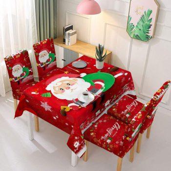 Christmas Tablecloths Santa Claus Chair Cover Decor