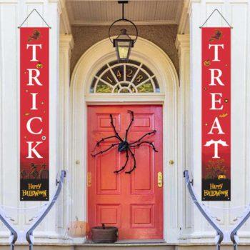 Halloween Front Door Hanging Banners Outdoor Christmas Banner for Home