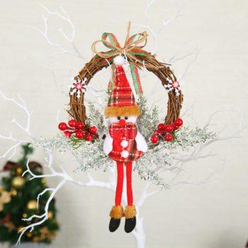 Christmas Garland Branch Vine Snowman Wreath Hangings