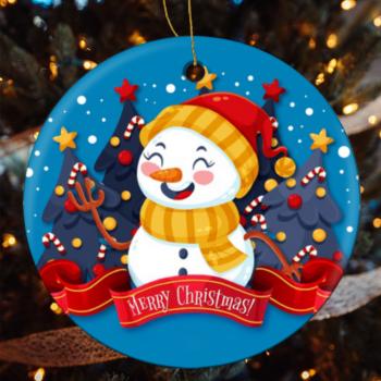 Custom Ceramic Tabs Geometric Hanging Ornament Christmas Tree Decorations