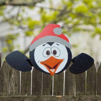 Decorative Fence Panel Christmas Ornament Garden Fencing