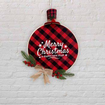 Christmas Decoration Snowman Hat Tree Hanger Door Wreath