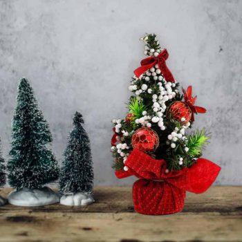 Mini Christmas Tree With Pine Hanging Tabletop Xmas Tree