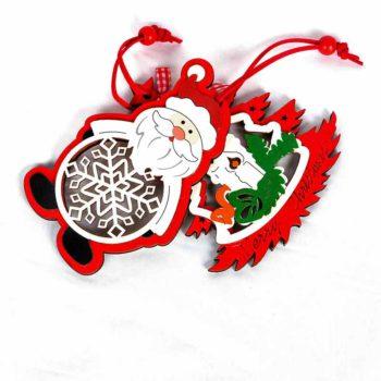 Christmas Tree Decor Charm Carving Ornament Hangers