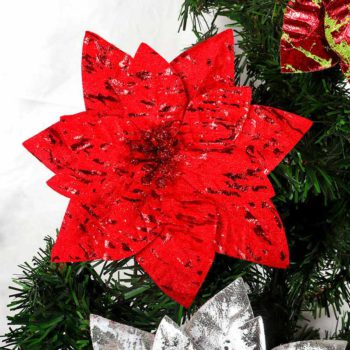 Christmas Poinsettia Flower Artificial Christmas Decor