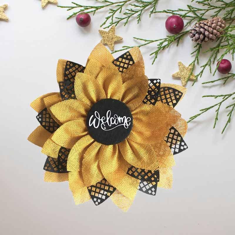 Sunflower Wreath Autumn Farmhouse Bee Christmas Wreath