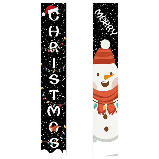 Christmas Banner For Front Door Merry Xmas Porch Banner