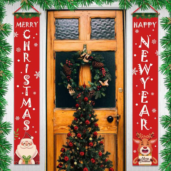 Garage Door Christmas Banners Garden Couplet Banners