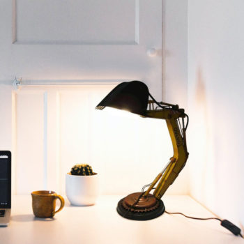 Table Lamp Excavator Antique Metal Punk Desk Lamp