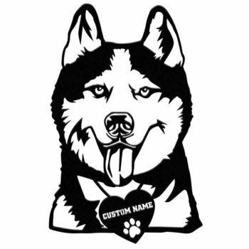 Custom Dog Portraits Siberian Husky Pet Name Portrait