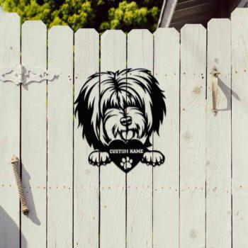 Dog Metal Portraits Custom Tibetan Mastiff Memorial Art