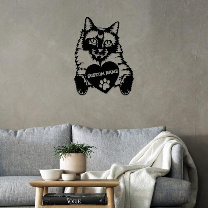 Personalized Cat Metal Sign Siamese Cat Porch Portraits