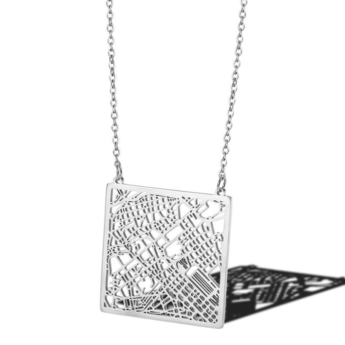 Map Necklace Customize Your Memorial City Map Jewelry