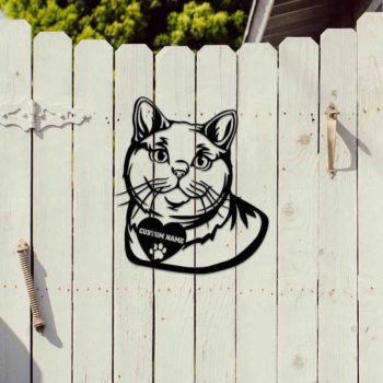 Cat Silhouette Custom British Shorthair Cat Portrait