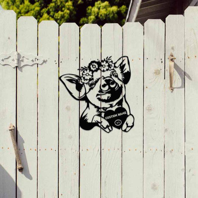 Custom Animals Portrait Cute Pig Garden Art Sculpture