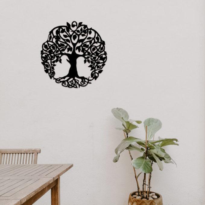 Tree Of Life Metal Wall Hanging Family Tree Room Decor