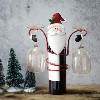 Wine Bottle Holder Christmas Santa & Snowman Bottle Holder